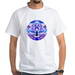 Cosmic Spiral 64 White T-Shirt