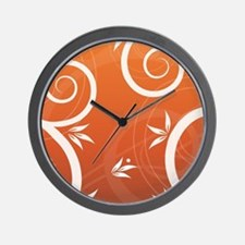 Floral Colorful Modern Trendy Pattern I Wall Clock