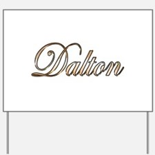 Gold Dalton Yard Sign