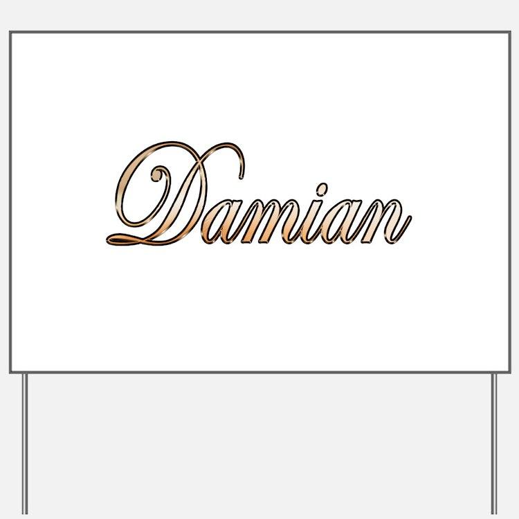Gold Damian Yard Sign