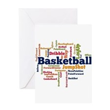 Basketball Word Cloud Greeting Cards