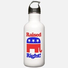 Funny Raised right Water Bottle