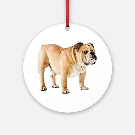 English Bulldog Round Ornament