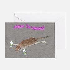 21st b-day prairie dog Greeting Card
