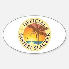 Sanibel Slacker - Sticker (Oval)