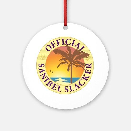 Sanibel Slacker - Round Ornament