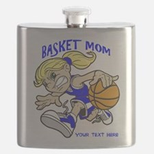 PERSONALIZED BASKET MOM Flask