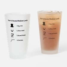 Funny Abe lincoln Drinking Glass