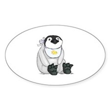 Baby Penguin Oval Decal