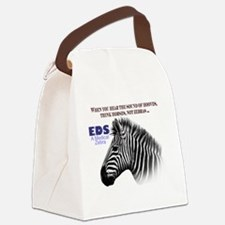 Cute Zebra stripes Canvas Lunch Bag