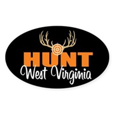 Hunt West Virginia Oval Decal