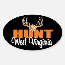 Hunt West Virginia Oval Decal