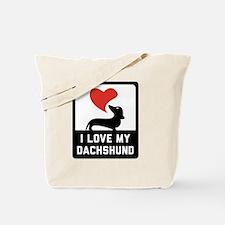 Unique Dachshund shopping Tote Bag
