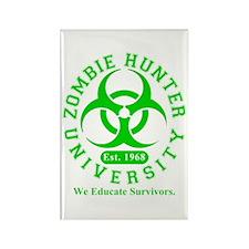 A Zombie Hunter University Rectangle Magnet (10 pa