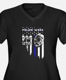 Thin Blue Line Fallen Police Wee Plus Size T-Shirt
