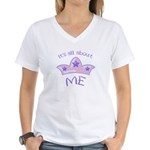 All About Me Women's V-Neck T-Shirt