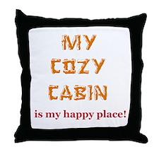"""My Cozy Cabin"" Throw Pillow"