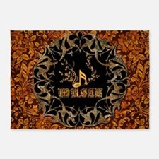 Music, key notes 5'x7'Area Rug