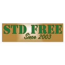 STD Free 2 Bumper Bumper Sticker