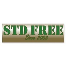 STD Free Bumper Bumper Sticker