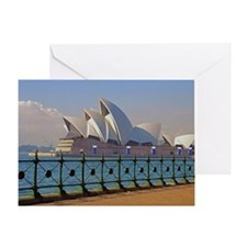 Sydney Opera House with Fence Greeting Card