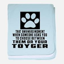 Awkward Toyger Cat Designs baby blanket