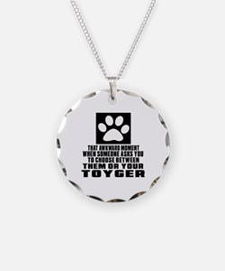 Awkward Toyger Cat Designs Necklace