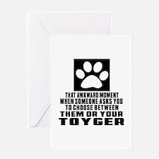 Awkward Toyger Cat Designs Greeting Card
