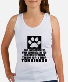 Awkward Tonkinese Cat Designs Women's Tank Top