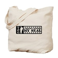 Proudly Support Seal - NAVY Tote Bag