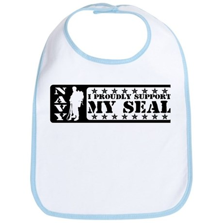 Proudly Support Seal - NAVY Bib