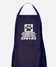 Awkward Sphynx Cat Designs Apron (dark)