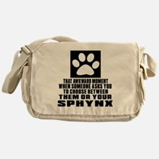 Awkward Sphynx Cat Designs Messenger Bag