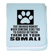 Awkward Somali Cat Designs baby blanket