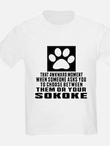 Awkward Sokoke Cat Designs T-Shirt