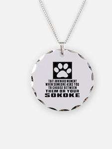 Awkward Sokoke Cat Designs Necklace