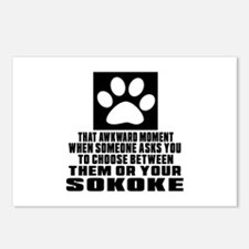 Awkward Sokoke Cat Design Postcards (Package of 8)