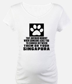 Awkward Singapura Cat Designs Shirt