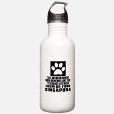 Awkward Singapura Cat Water Bottle