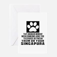 Awkward Singapura Cat Designs Greeting Card