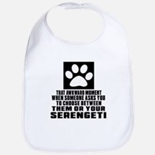 Awkward Serengeti Cat Designs Bib