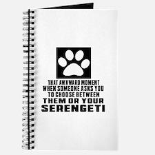 Awkward Serengeti Cat Designs Journal