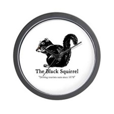 The Black Squirrel -- Wall Clock