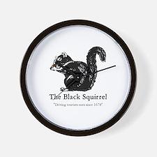 The Black Squirrel -- Wall Clock