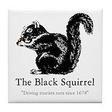 Black squirrel Tile Coasters