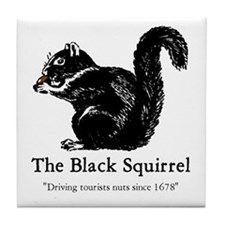 The Black Squirrel -- Tile Coaster