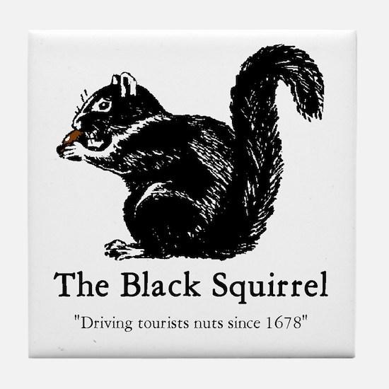 The Black Squirrel -- Tile Coaster