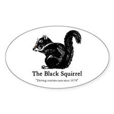 The Black Squirrel -- Oval Decal