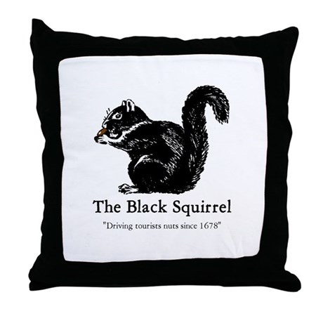 The Black Squirrel -- Throw Pillow