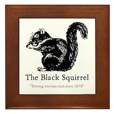 The Black Squirrel -- Framed Tile